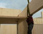 start montage houtelementen Cornelis Zillesenlaan