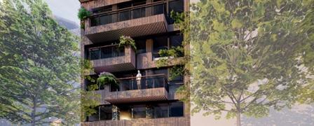 houten appartementen